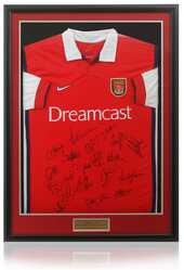Arsenal Home Shirt hand signed by the Legendary 2002/03 Double winners