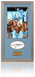VINCENT KOMPANY Hand Signed Manchester City Photo