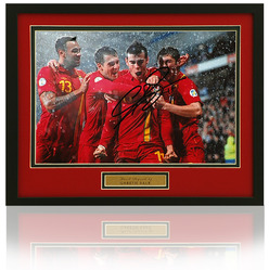"Gareth Bale Hand Signed Wales 12x8"" Photo"