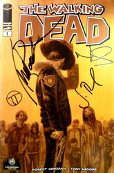 Image, The Walking Dead #1, Philadelphia Comic Con Exclusive comic 2013, signed by Michael Rooker, Norman Reedus, Jon Bernthal, and Julian T. Tedesco