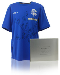 Rangers F.C. 2012/13 Squad Hand Signed Home Shirt