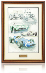 Sir Stirling Moss OBE hand signed Art Print