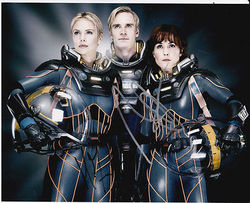 Michael Fassbender & Noomi Rapace Autograph PROMETHEUS signed in person 10x8