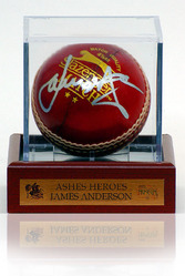 James Anderson hand signed cricket ball