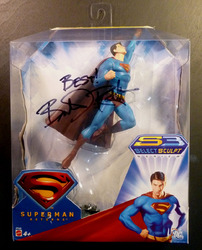 DC, Superman Returns, S3 Select Sculpt Series action figure, by Mattel signed by Brandon Routh