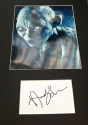 Andy Serkis Signed Index Card Presentation Lord Of The Rings