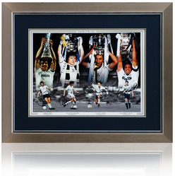 "Tottenham Hotspur 4 Legends of White Hart Lane hand signed 16x12"" Montage"