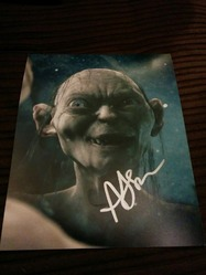 Andy Serkis AUTOGRAPH Lord Of The Rings SIGNED IN PERSON 10x8 photo