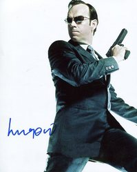 Hugo Weaving AUTOGRAPH The Matrix Reloaded SIGNED IN PERSON 10x8 photo