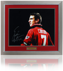 "Eric Cantona Hand Signed 20x16"" Manchester United Photo"