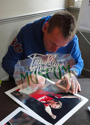 "Stuart Pearce hand signed 12x8"" framed Nottingham Forest photo"