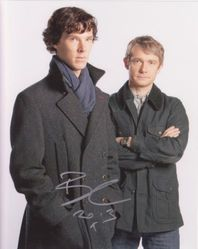 Benedict Cumberbatch Autograph Sherlock signed in person 10 x 8 photo