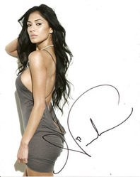 Nicole Scherzinger signed 10x8 photo.