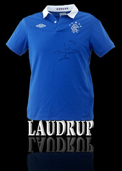 RANGERS Shirt Hand Signed by BRIAN LAUDRUP