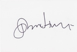John Hurt AUTOGRAPH Alien - Harry Potter - Dr Who SIGNED IN PERSON 6x4 Index Card