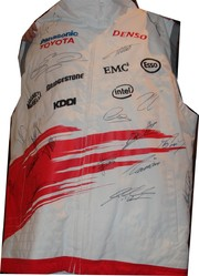 Toyota Body Warmer signed by 18 F1 world champions