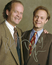 Kelsey Grammer & David Hyde Pierce signed 10x8 photo