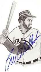 Bill Madlock Signed Post Card
