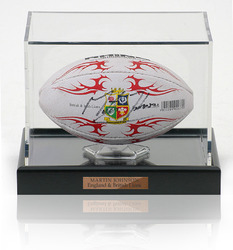 Martin Johnson Hand Signed Mini British Lions Rugby Ball