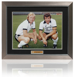 Large Alan Mullery Hand Signed FULHAM Bobby Moore Photo