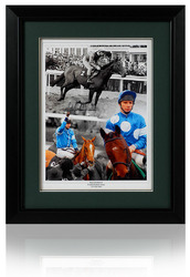 Peter Scudamore hand signed montage