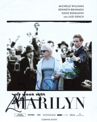 Michelle Williams & Eddie Redmayne AUTOGRAPHED My Week With Marilyn SIGNED IN PERSON 10x8 photo