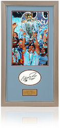 Sergio Aguero Hand Signed Manchester City League Champions Presentation