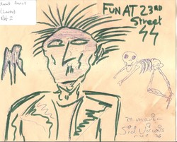 Sid Vicious signed Sketch 6441