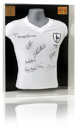 Tottenham 1961 Double Winners hand signed shirt