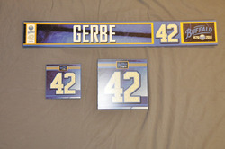Nathan Gerbe Buffalo Sabres Locker Room Nameplate, Stick Plate, Dry Stall Plate 2010-11 Season