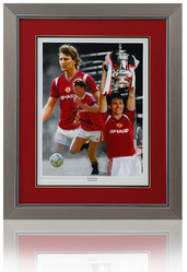 Bryan Robson hand signed Manchester United montage