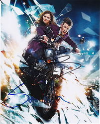 Matt Smith & Steven Moffat AUTOGRAPH Dr Who SIGNED IN PERSON 10x8 photo