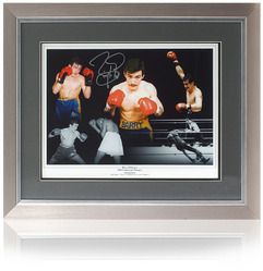 Barry McGuigan hand signed Boxing Montage