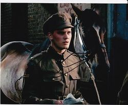 Jeremy Irvine Autograph War Horse Signed In Person 10 x 8 photo