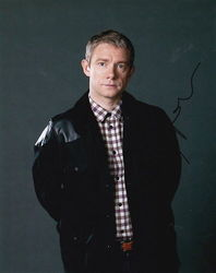 Martin Freeman Autograph SHERLOCK signed in person 10x8 photo