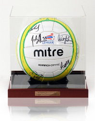 Official Norwich City Squad hand signed football ball