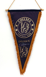 CHELSEA F.C. Pennant Hand Signed by Ron Harris