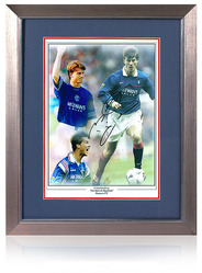 "Brian Laudrup hand signed 16x12"" montage"