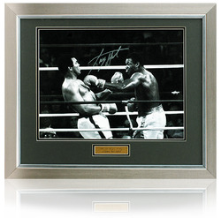 "Larry Holmes hand signed 16x12"" Muhammed Ali Boxing Photo"