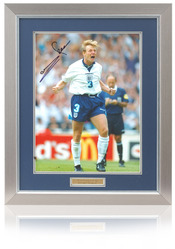 Stuart Pearce hand signed 16x12 England Euro96 photo