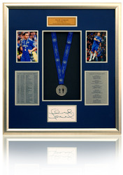 Large Hand Signed Frank Lampard Double medal