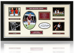West Ham Legends presentation hand signed by Frank McAvennie