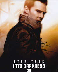Benedict Cumberbatch Autograph Star Trek Into Darkness signed in person 10x8