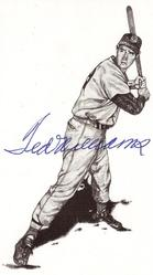 Ted Williams signed postcard