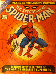 Marvel Treasury Edition, The Spectacular Spiderman #1 signed by Stan Lee