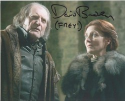 David Bradley Autograph Game Of Thrones signed in person 10x8 photo