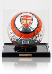 Arsenal F.C. 2005 Squad Hand Signed Size 5 Chrome style Ball Football