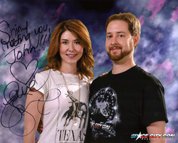 Space City Con, 8x10 Jewel Staite signed photograph