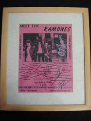 The Ramones,Signed 1990 flyer