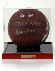 England 1966 Retro Ball Hand Signed by 7 World Cup Winners.